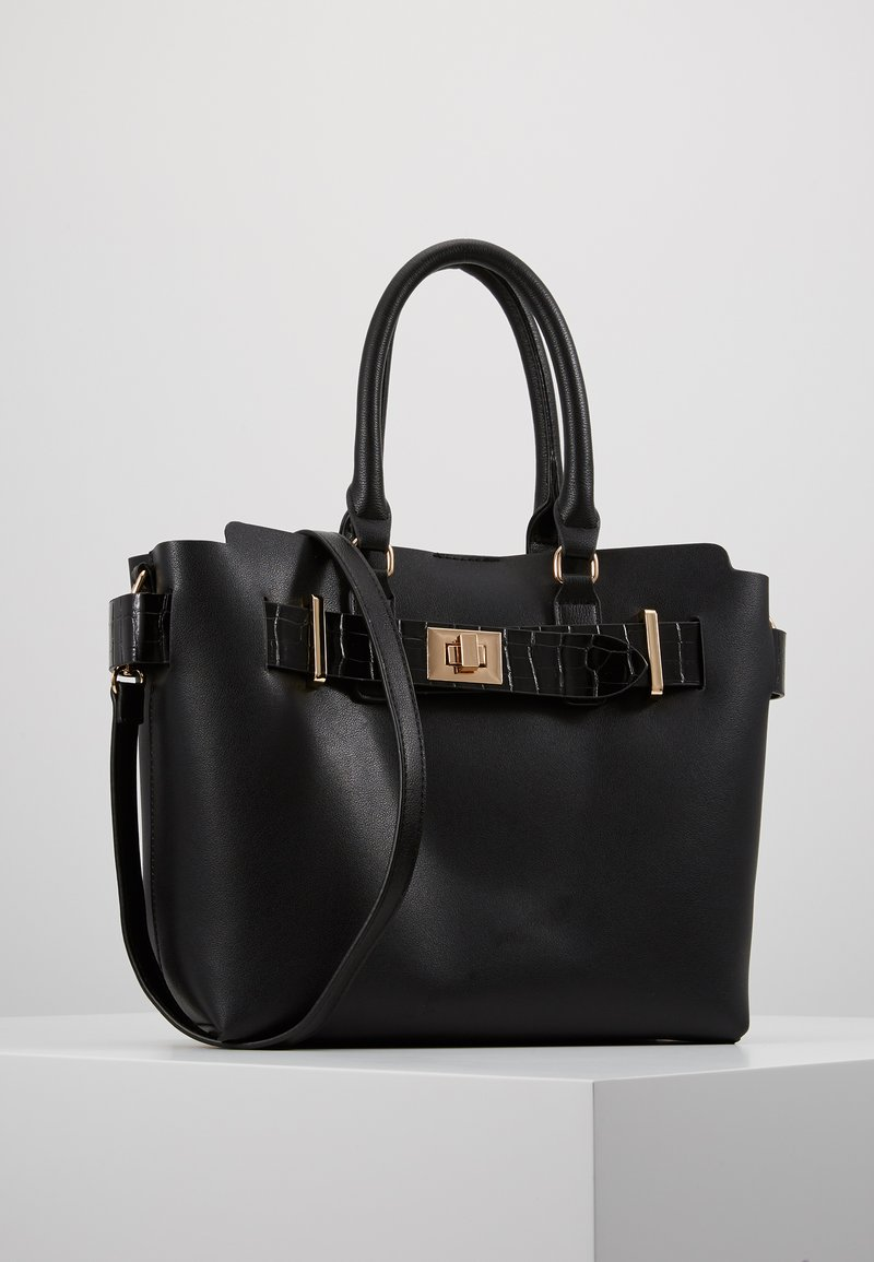 Dorothy Perkins - BELTED TOTE - Handbag - black