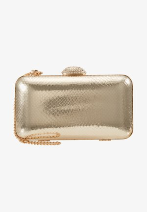 DIAMONTE CLASP BOX CLUTCH - Pochette - gold