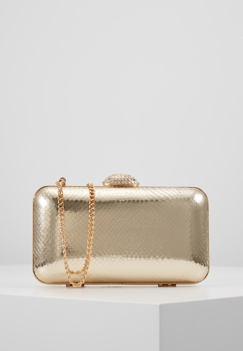 Dorothy Perkins - DIAMONTE CLASP BOX CLUTCH - Pochette - gold
