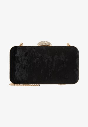 DIAMONTE CLASP BOX CLUTCH - Clutch - black
