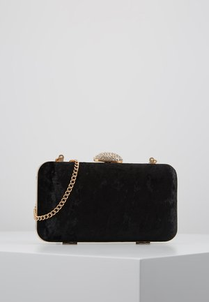 DIAMONTE CLASP BOX CLUTCH - Pochette - black