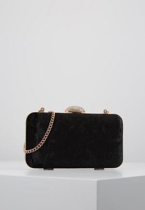 DIAMONTE CLASP BOX CLUTCH - Clutch - black