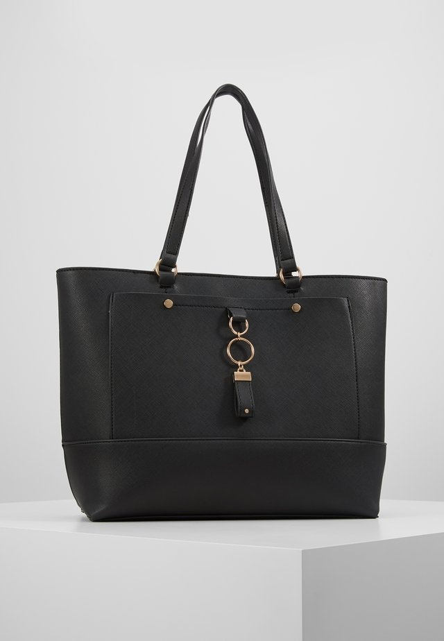 POCKET FRONT - Handbag - black
