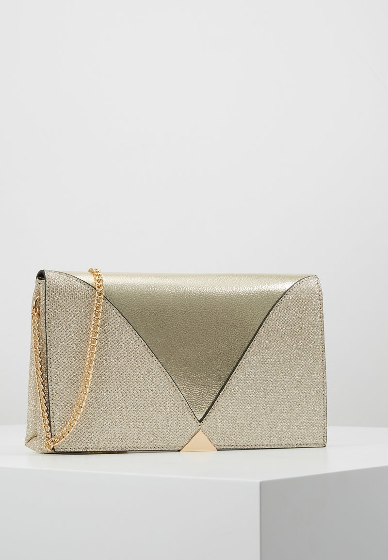 Dorothy Perkins - V PANEL CLUTCH - Skulderveske - gold