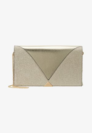 V PANEL CLUTCH - Skulderveske - gold