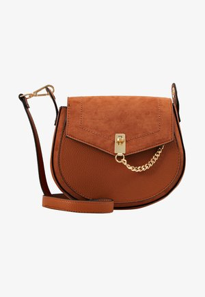 EYELET SADDLE CROSS BODY - Bandolera - tan