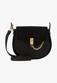 Dorothy Perkins - EYELET SADDLE CROSS BODY - Across body bag - black - 5