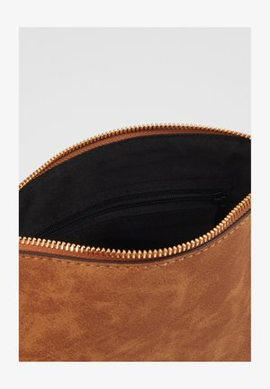 TAN ZIP TOP CROSS BODY - Borsa a tracolla - tan