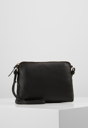TAN ZIP TOP CROSS BODY - Across body bag - black