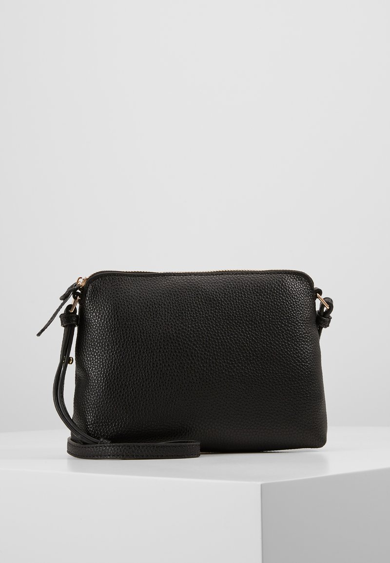 Dorothy Perkins - TAN ZIP TOP CROSS BODY - Bandolera - black