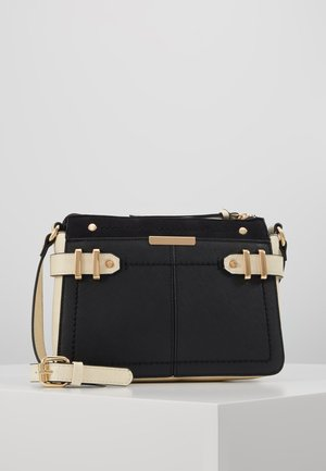 DOUBLE BAR CROSS BODY - Bandolera - black/stone