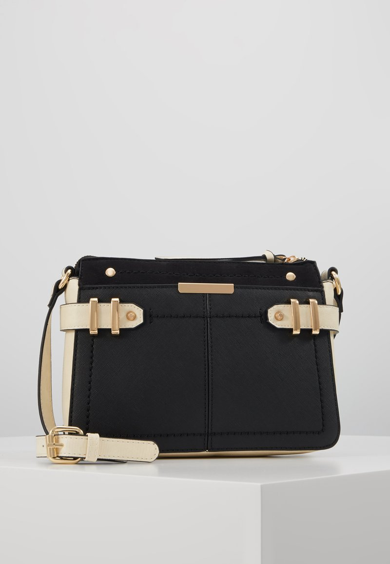 Dorothy Perkins - DOUBLE BAR CROSS BODY - Olkalaukku - black/stone