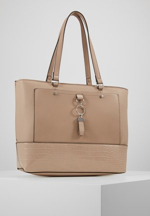 POCKET FRONT - Handbag - taupe