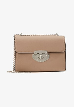 LOCK CHAIN XBODY - Across body bag - taupe