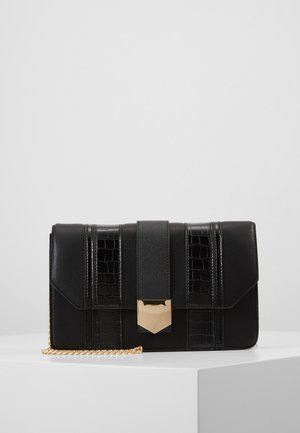 BLACK PANELLED CROSS BODY - Olkalaukku - black