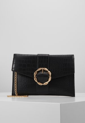 CROC BUCKLE CROSS BODY - Across body bag - black