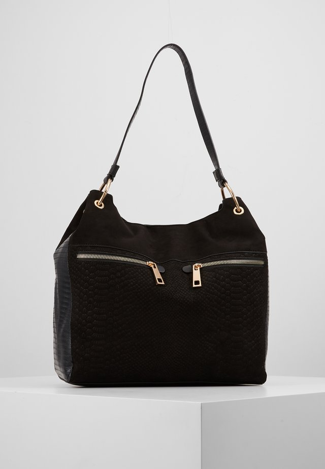 ZIP HOBO - Handväska - black