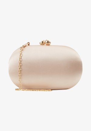 ROUNDED BOX CLUTCH - Kopertówka - champagne