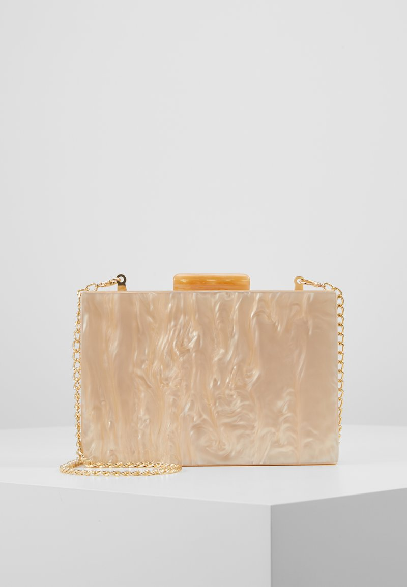 Dorothy Perkins - NUDE MARBLE BOX CLUTCH - Clutch - nude