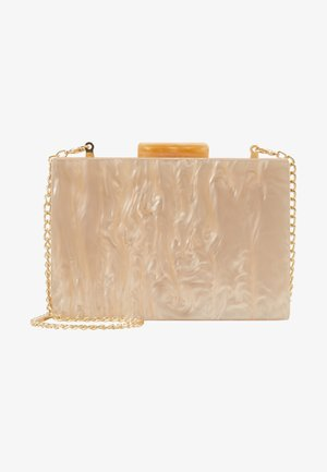 NUDE MARBLE BOX CLUTCH - Clutch - nude