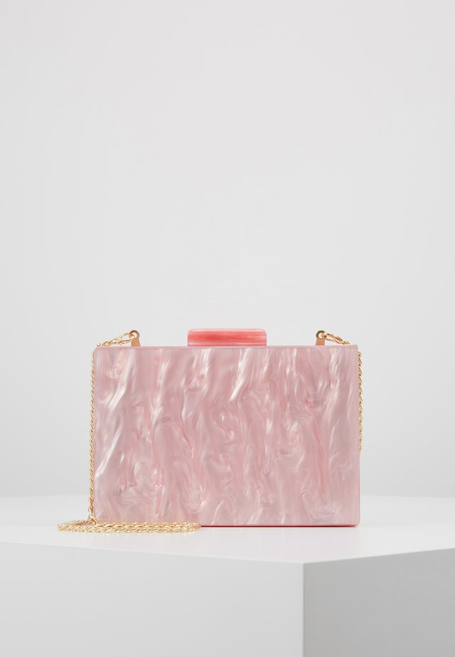 NUDE MARBLE BOX CLUTCH - Clutch - pink