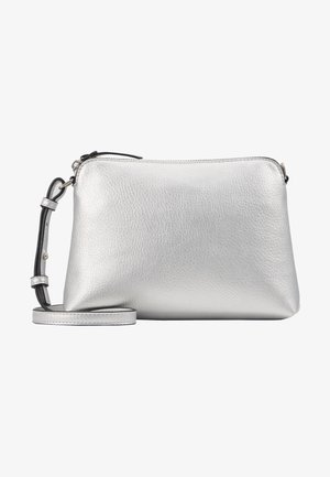 ZIP TOP CROSS BODY - Olkalaukku - silver