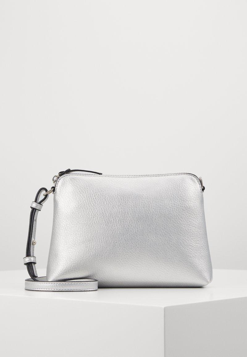 Dorothy Perkins - ZIP TOP CROSS BODY - Across body bag - silver