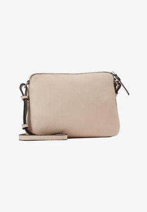 ZIP TOP CROSS BODY - Schoudertas - nude