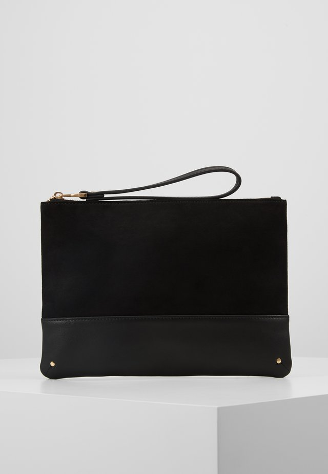 BLUSH STUD PANEL CLUTCH - Psaníčko - black