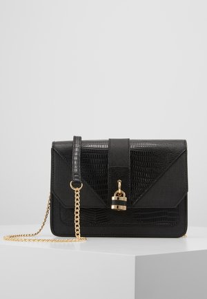PADLOCK CROSS BODY - Olkalaukku - black