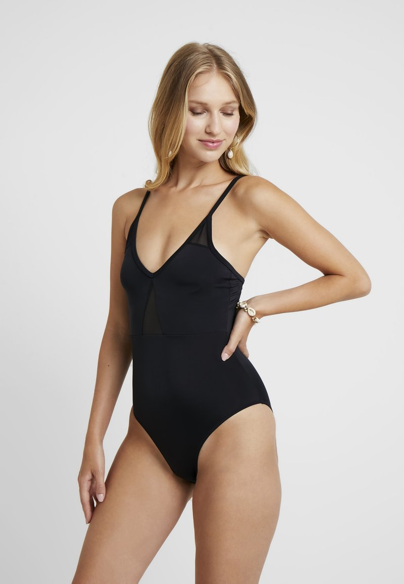 Dorothy Perkins - CROSSOVER SWIMSUIT - Maillot de bain - black