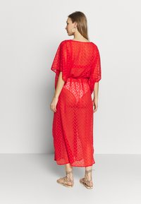 Dorothy Perkins - PLAIN TIE FRONT COVER UP - Strandaccessoire - red - 2