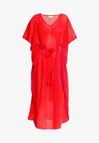 Dorothy Perkins - PLAIN TIE FRONT COVER UP - Strandaccessoire - red - 3