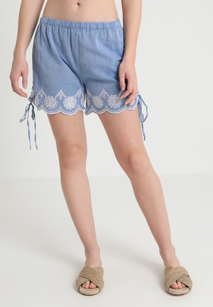 BRODERIE TIE SIDE SHORTS TO HAVE A FRONT WAISTBAND - Accessoire de plage - blue