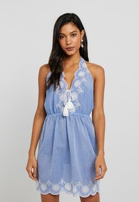 Dorothy Perkins - BRODERY DRESS - Complementos de playa - chambray - 0