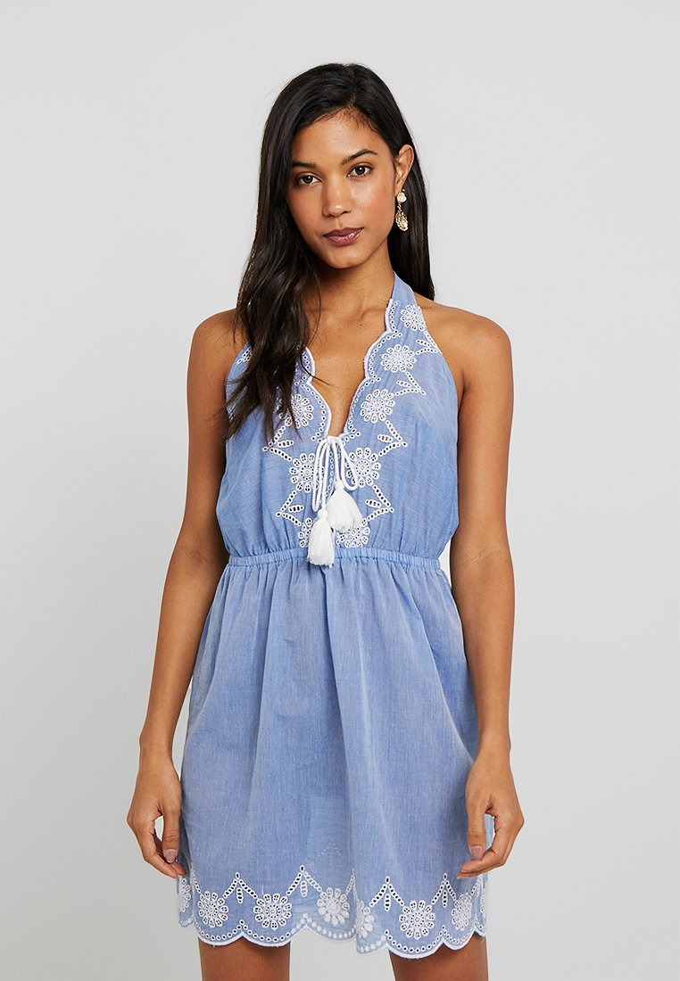 Dorothy Perkins - BRODERY DRESS - Complementos de playa - chambray