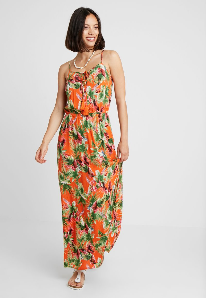 Dorothy Perkins - TROPIC TIE DRESS - Maxi dress - orange
