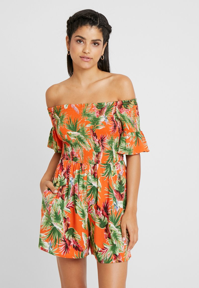 Dorothy Perkins - TROPIC SHIRRED - Tuta jumpsuit - orange