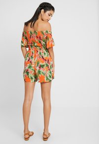 Dorothy Perkins - TROPIC SHIRRED - Tuta jumpsuit - orange - 2