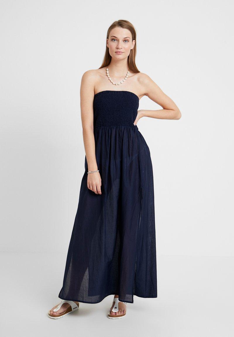 Dorothy Perkins - SHIRRED BARDOT MAXI DRESS - Complementos de playa - navy