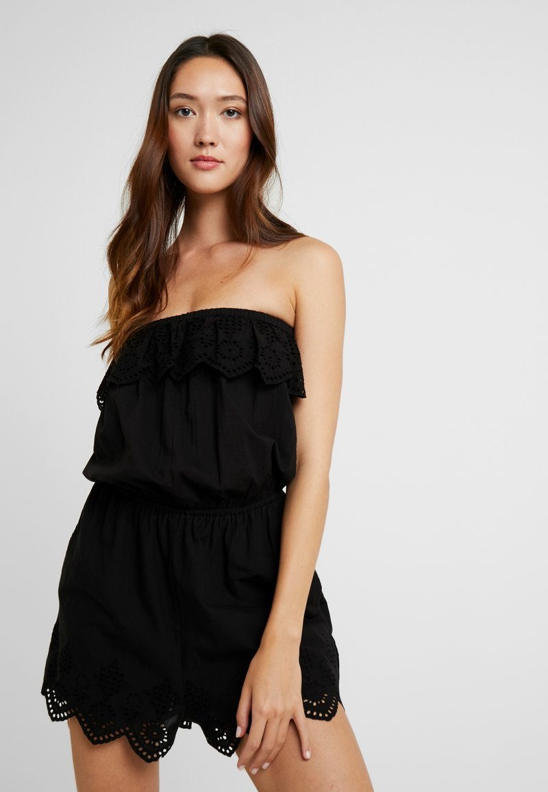 Dorothy Perkins - BAND BRODERIE PLAYSUIT - Complementos de playa - black