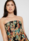 Dorothy Perkins - TROPICAL PRINT MIDI DRESS - Complementos de playa - black