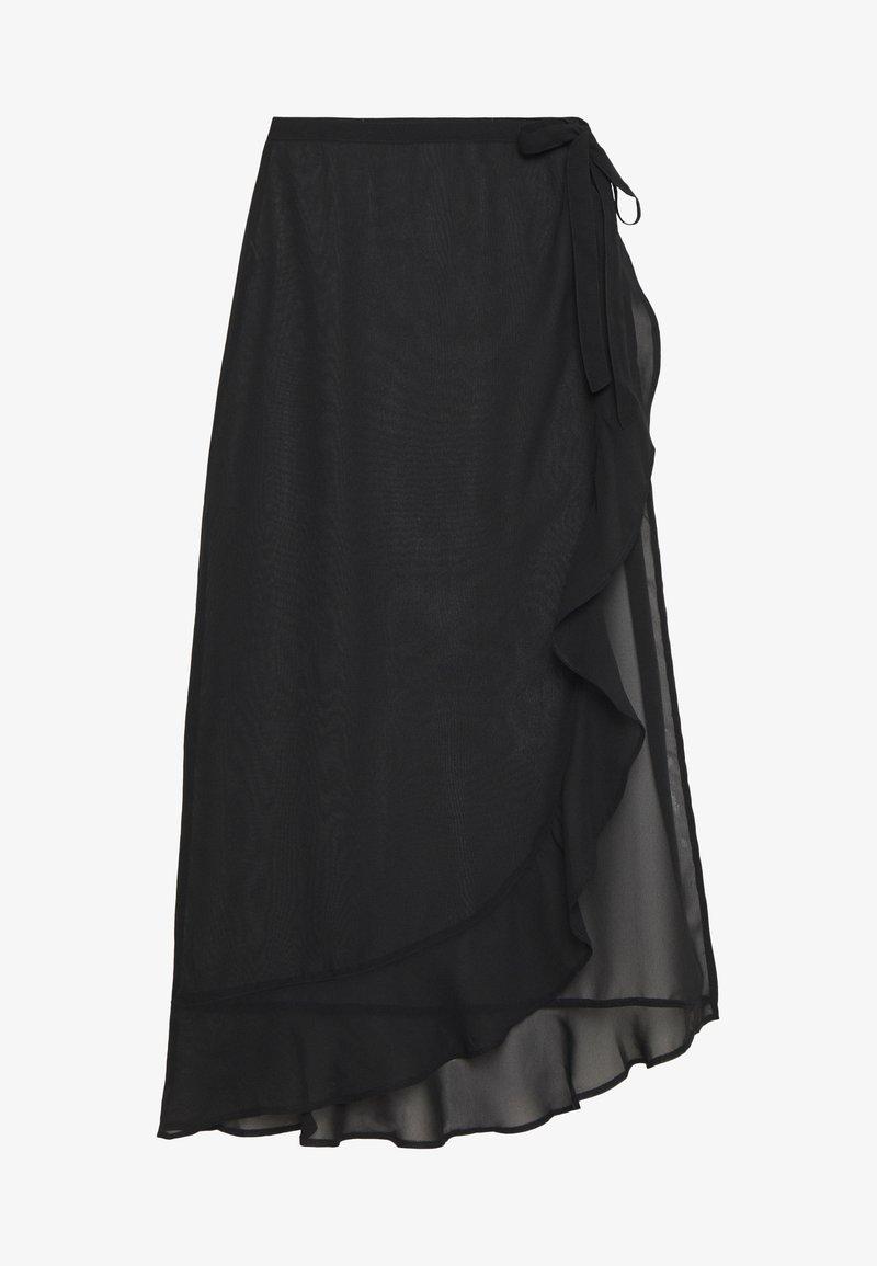 Dorothy Perkins - PLAIN RUFFLE SKIRT - Accessoire de plage - black