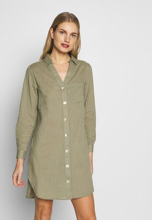 BUTTON STRIPE BEACH SHIRT - Strandaccessoire - khaki