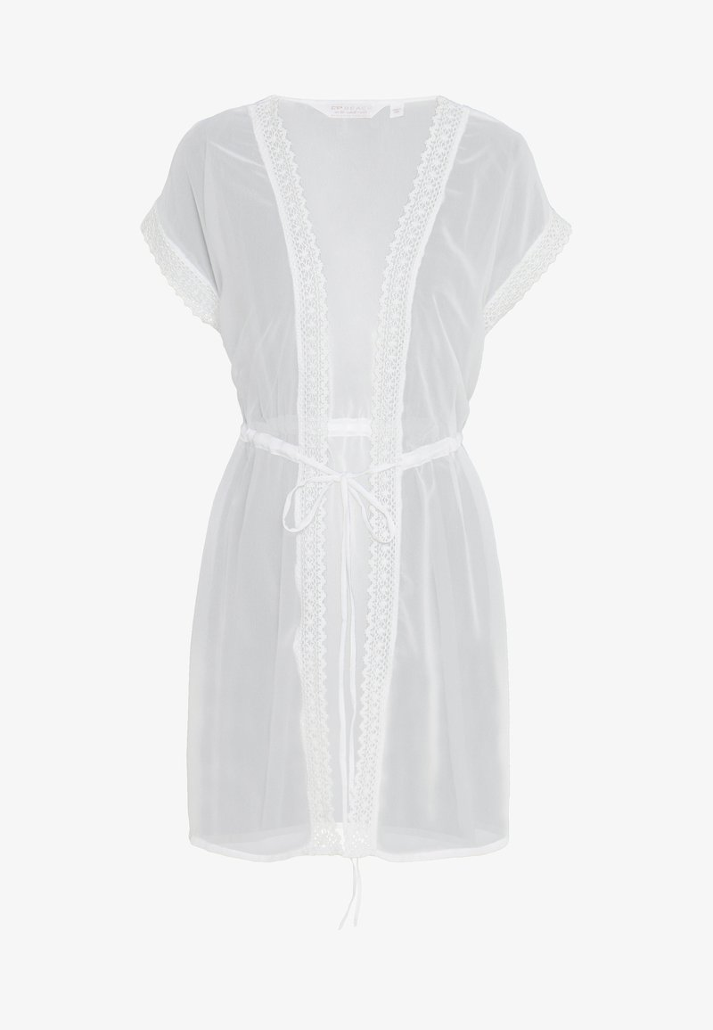 Dorothy Perkins - TRIM COVER UP - Beach accessory - ivory