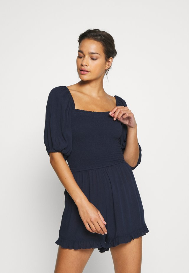 PLAIN SHIRRED PLAYSUIT - Strandaccessoire - navy