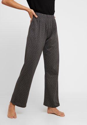 POLKA DOT PANT - Pyžamový spodní díl - charcoal
