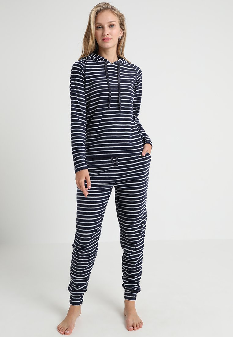 Dorothy Perkins - STRIPE WITH HOOD - Pyjama - navy