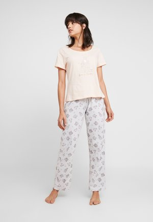 BEARY SLEEPY FOLDED SET - Pyžamová sada - pink