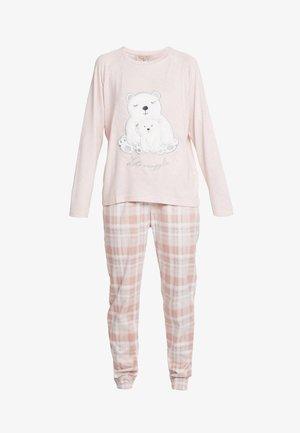 CHECK POLAR BEAR SET - Pigiama - pink